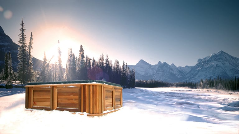 arctic spas hot tub in the mountains