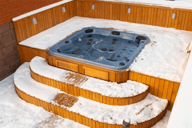 arctic spas hot tub sunk in deck