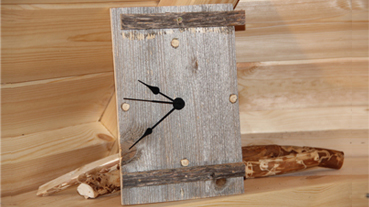 Grillhouse Wooden Clock