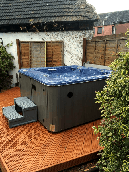 arctic spas hot tub on a deck