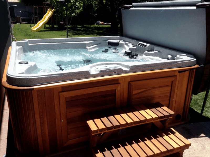 arctic spas hot tub on the backyard